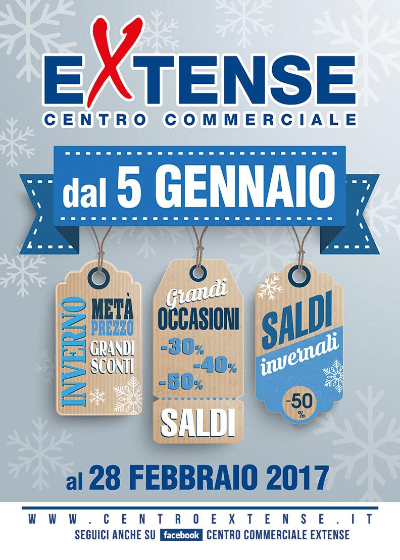 Saldi Invernali! Centro Commerciale Extense - Dal 5 gennaio 2017