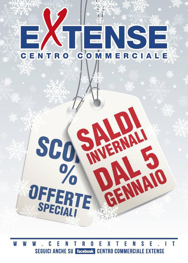 Saldi Invernali! Centro Commerciale Extense - Dal 5 gennaio 2018