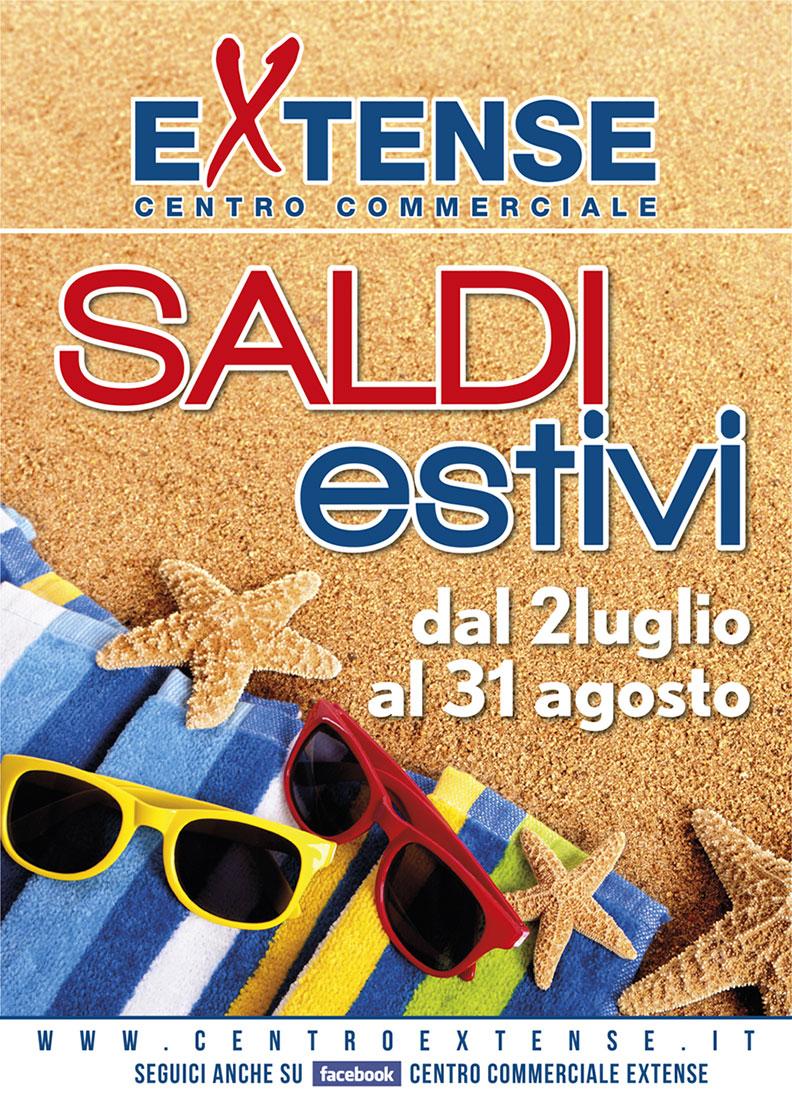 Saldi estivi! Centro Commerciale Extense - Dal 2 luglio al 31 agosto 2016