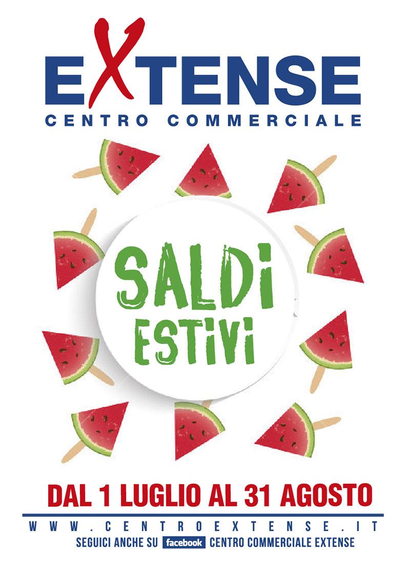 Saldi Estivi! Centro Commerciale Extense - Dal primo luglio al 31 agosto 2017