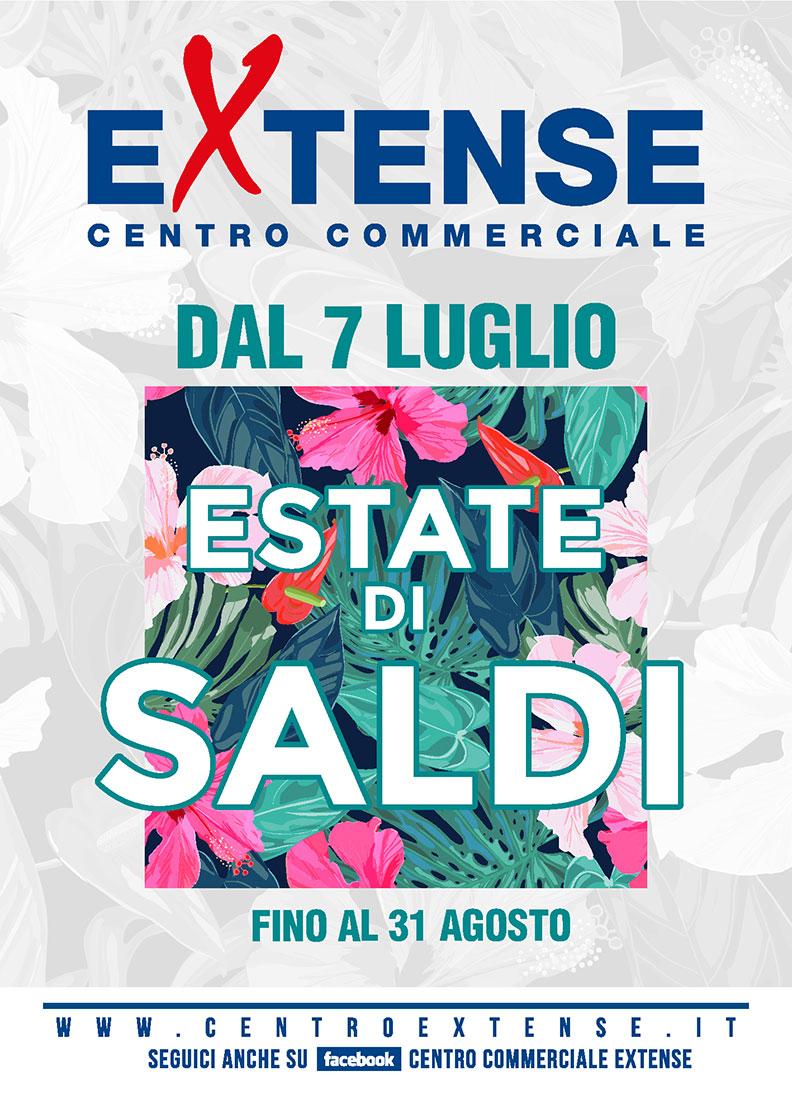 Saldi Estivi! Centro Commerciale Extense - Dal 7 luglio al 31 agosto 2018