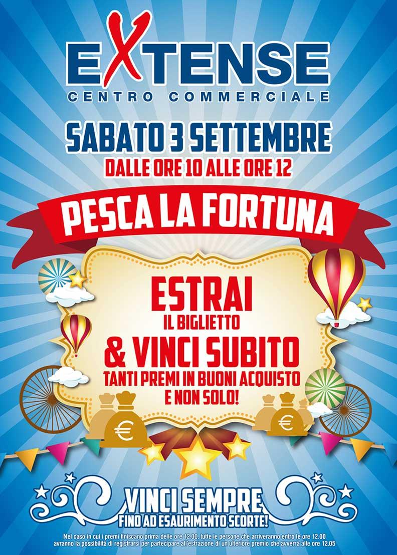 Pesca la Fortuna al Centro Commerciale Extense - 3 settembre 2016
