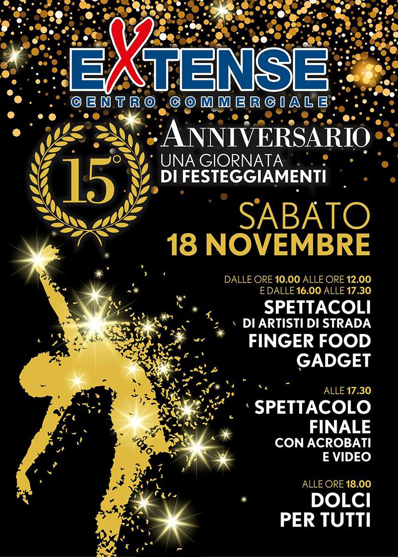 15° Anniversario Centro Commerciale Extense - Sabato 18 novembre 2017
