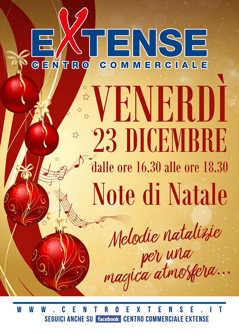 Note di Natale al Centro Commerciale Extense - Venerdì 23 dicembre 2016