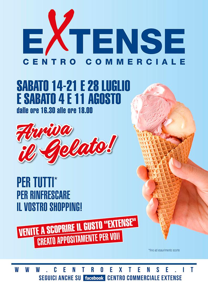 Arriva il Gelato! - Centro Commerciale Extense - Dal 14 luglio all'11 agosto 2018