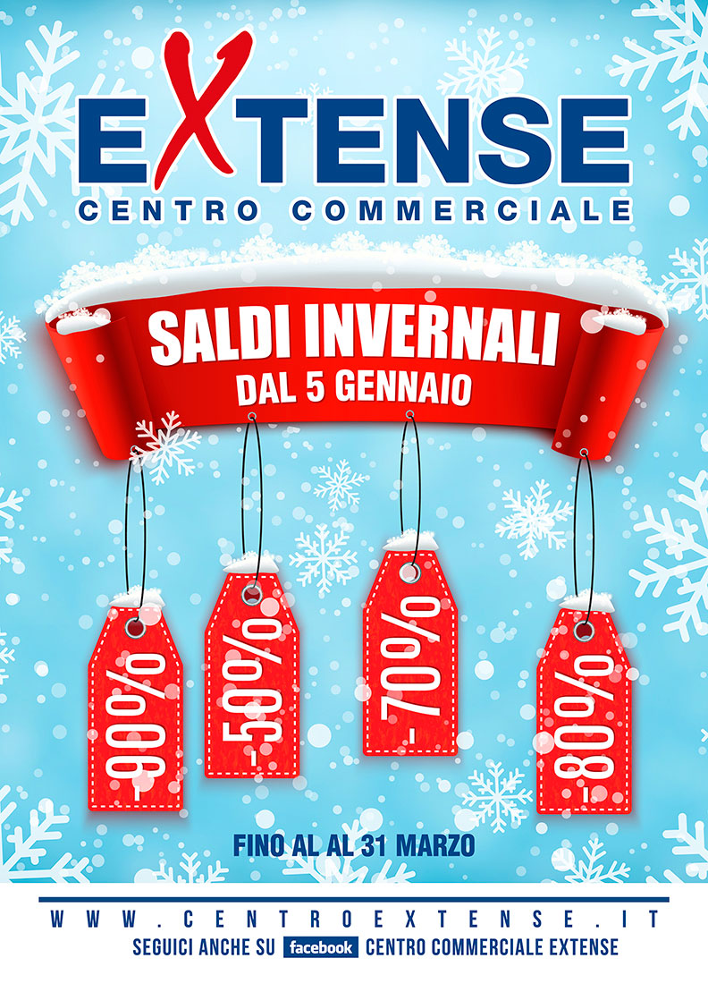 Saldi Invernali! Centro Commerciale Extense - Dal 5 gennaio 2019
