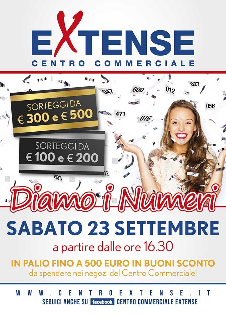 Diamo i Numeri - Centro Commerciale Extense - 23 settembre 2017