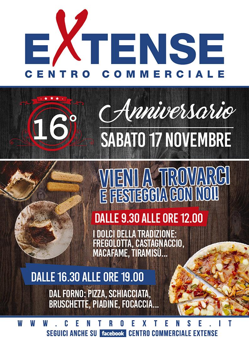 16° Anniversario Centro Commerciale Extense - Sabato 17 novembre 2018