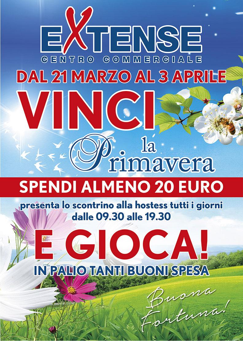 Vinci la Primavera al Centro Commerciale Extense - Dal 21 marzo al 3 aprile 2016