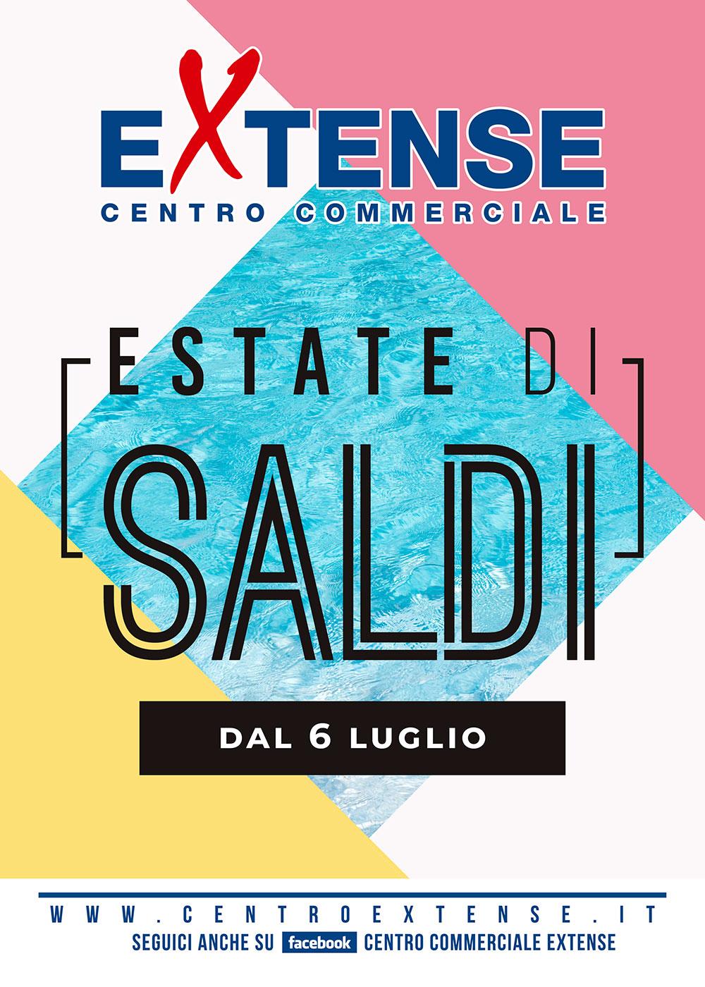 Saldi Estivi 2019 al Centro Commerciale Extense - luglio/agosto 2019