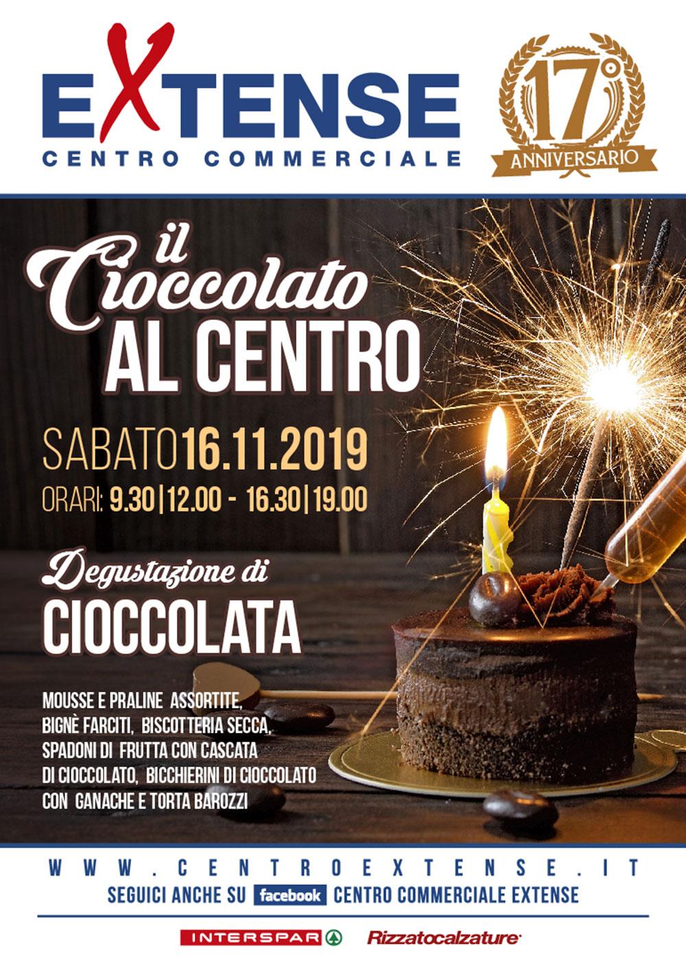 17° Anniversario del Centro Commerciale Extense - Il Cioccolato in Centro - 16 novembre 2019