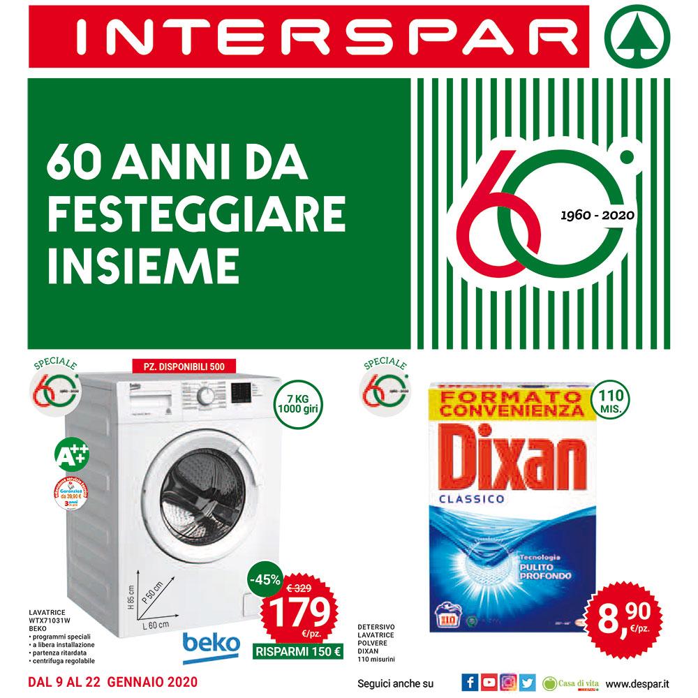 60 anni da festeggiare insieme - Offerte Interspar valide dal 9 al 22 gennaio 2020