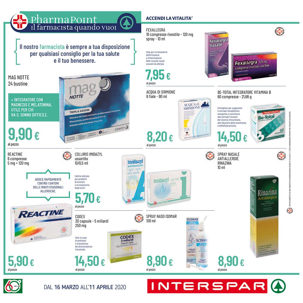 Promozione Pharmapoint - Accendi la vitalità - Dal 16 marzo all'11 aprile 2020.