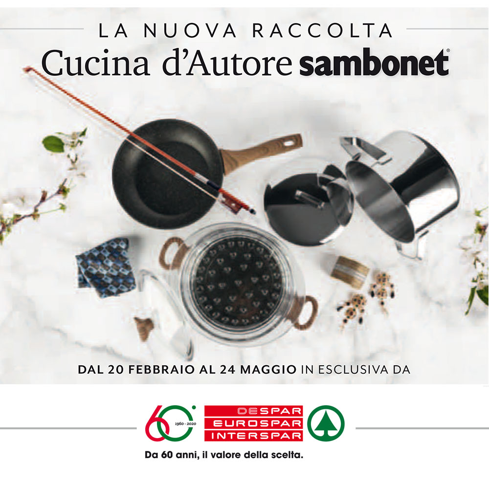 Raccolta Interspar - Cucina d'Autore Sambonet - Dal 20 febbraio al 24 maggio 2020