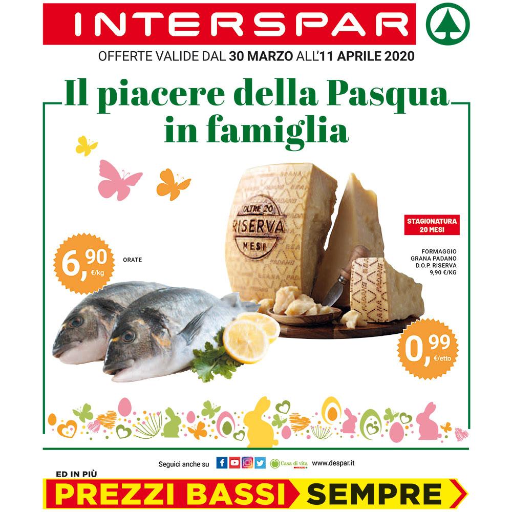 Il piacere della Pasqua in famiglia - Offerta Interspar dal 30 marzo all'11 aprile 2020