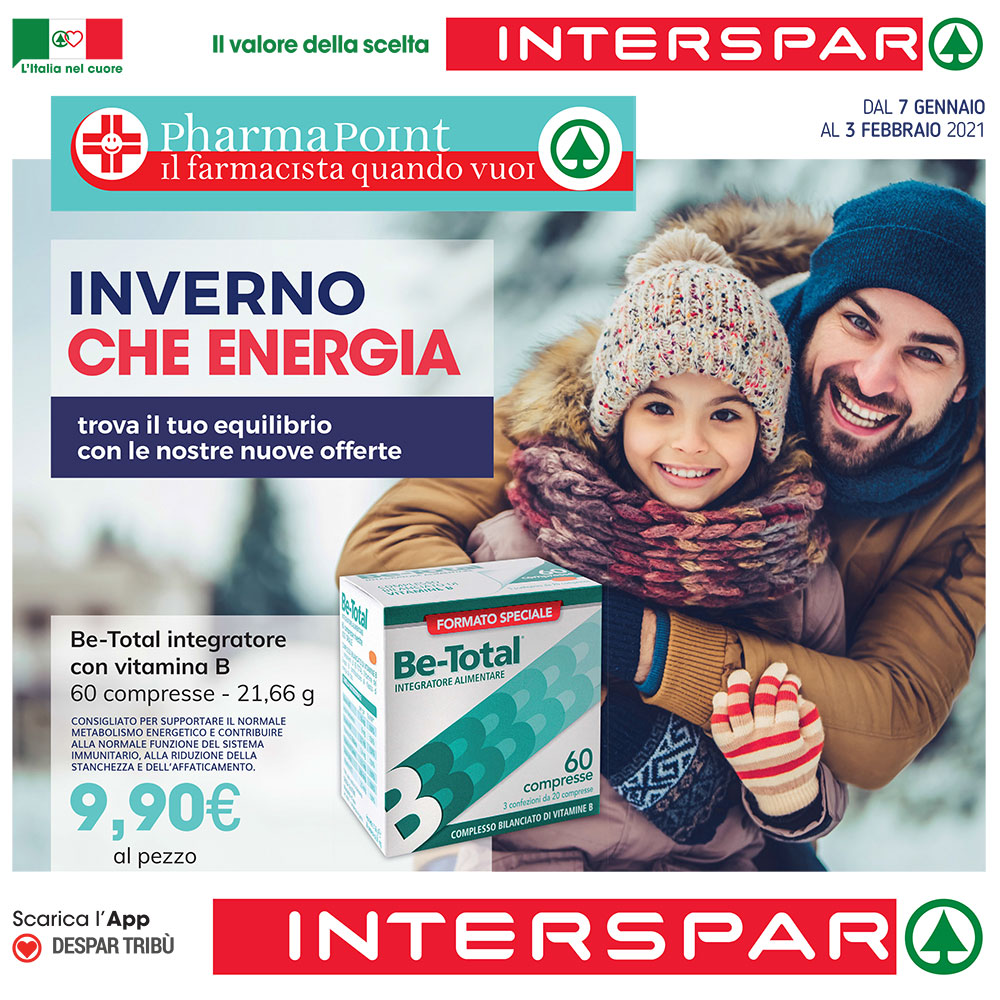 Offerta Pharmapoint - Inverno che energia - Valida dal 7 gennaio al 3 febbraio 2021