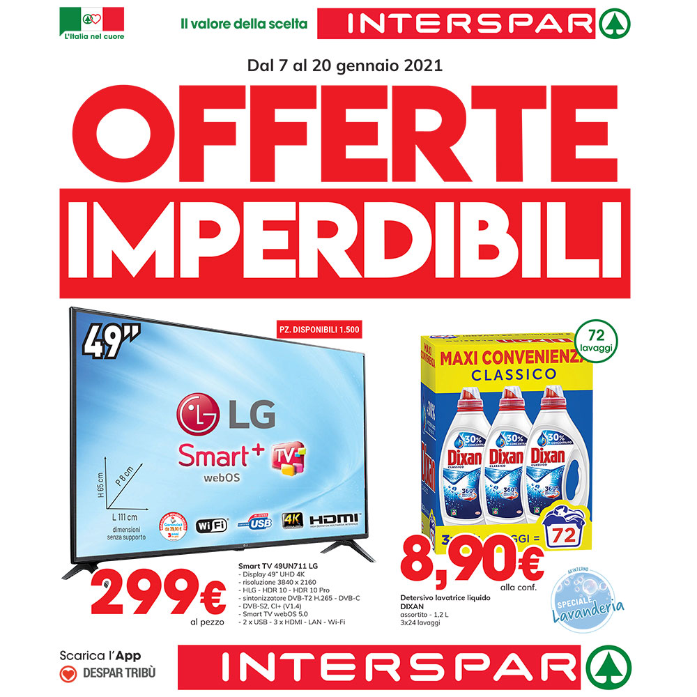 Offerta Interspar - Offerte Imperdibili - Valida dal 7 al 20 gennaio 2021
