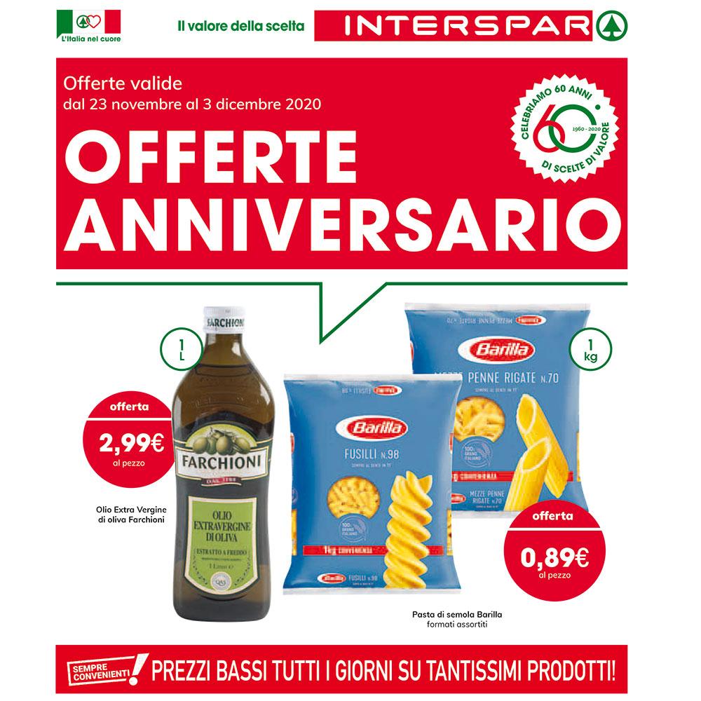 Offerta Interspar - Offerte Anniversario - Valida dal 23 novembre al 3 dicembre 2020