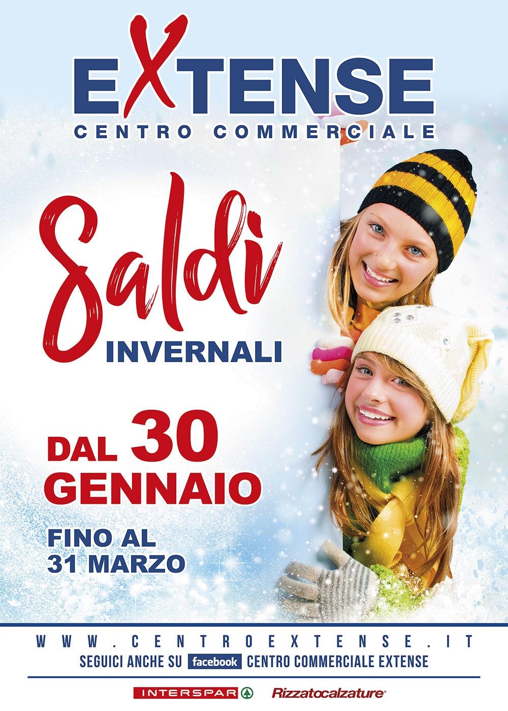 Saldi Invernali 2021 - Centro Commerciale Extense - Dal 30 gennaio al 31 marzo 2021