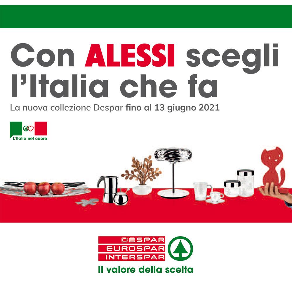 Raccolta Interspar - Con Alessi scegli l'Italia che fa - Prodotti Sponsor dal 15 marzo al 3 aprile 2021