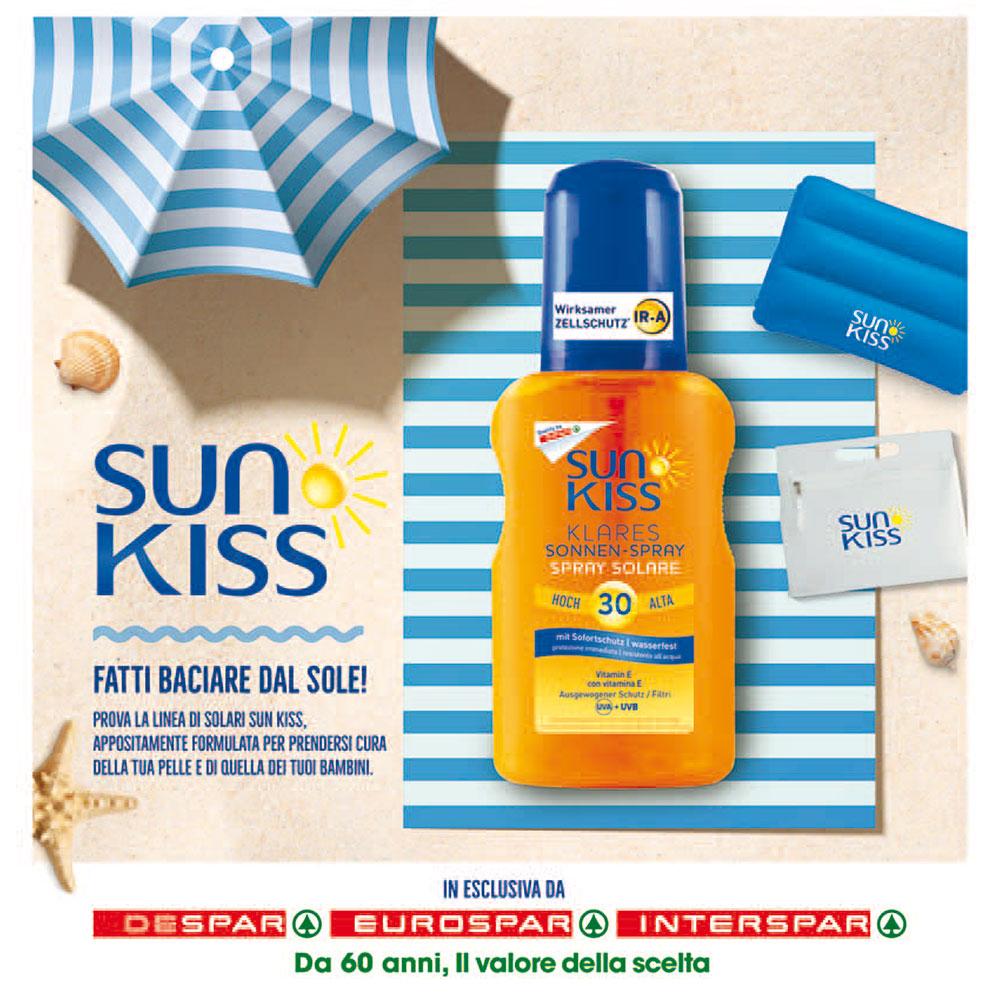 Offerta Sun Kiss Despar - Fatti baciare dal sole - Valida dal 13 al 26 maggio 2021