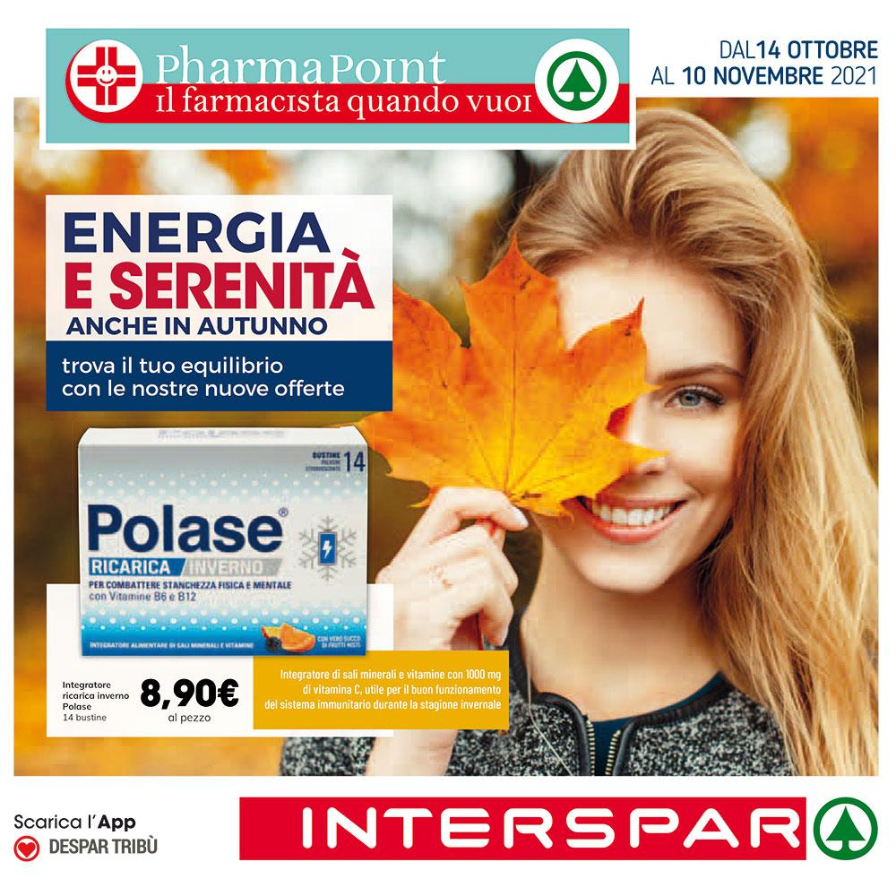 Promo Pharmapoint - Energia e Serenità - Valida dal 14 ottobre al 10 novembre 2021