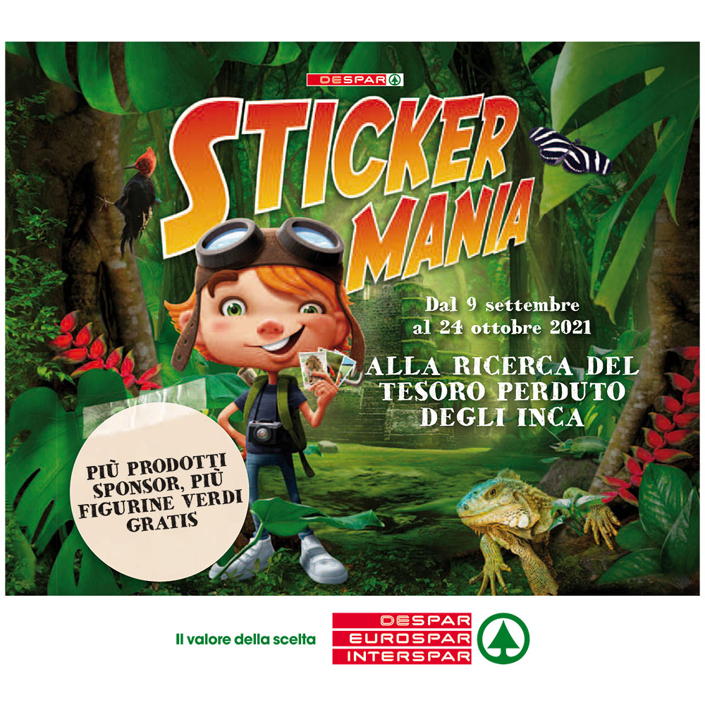 Promo Interspar - Sticker Mania - Valida dal 9 settembre al 24 ottobre 2021